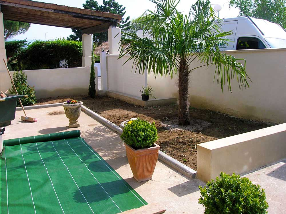 Amenagement patio provence for Paysagiste valence